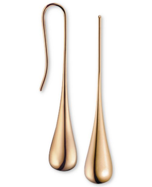 Calvin Klein Ellipse Rose Gold-Tone PVD Stainless Steel Drop Earrings