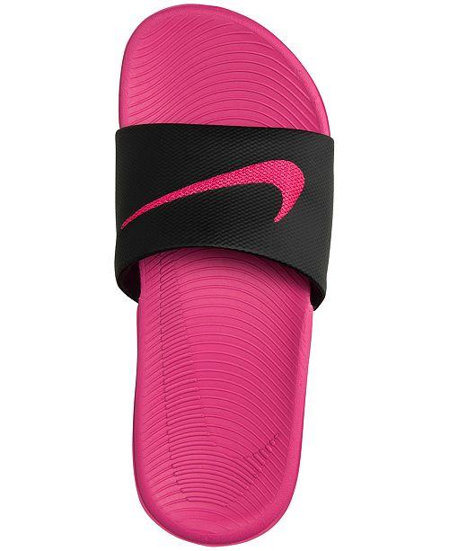 20c2b9323d02b3 Nike Big Girls  Kawa Slide Sandals from Finish Line   Reviews ...