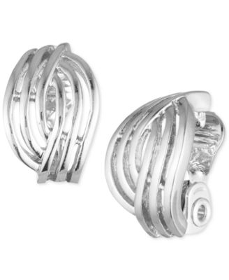 Image of Anne Klein Weave-Style Clip-On Earrings