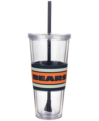 Boelter Brands Chicago Bears 22 oz. Hyped Straw Tumbler