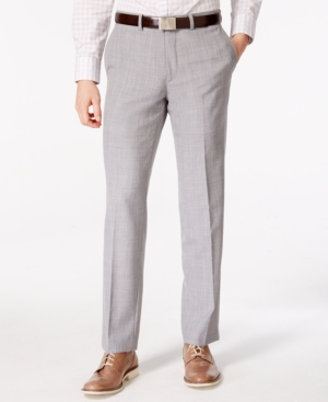1920s Men's Pants History: Oxford Bags, Plus Four Knickers, Overalls Bar Iii Mens Light Gray Slim Fit Pants Only at Macys $99.99 AT vintagedancer.com