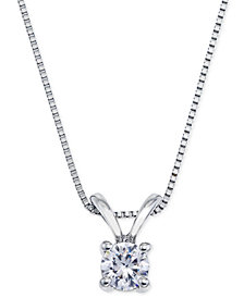 Certified Diamond Pendant Necklace (1/4 ct. t.w.) in 18k White Gold