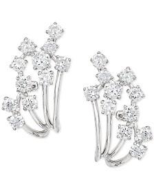 Pavé Classica by EFFY® Diamond Earrings (7/8 ct. t.w.) in 14k White Gold