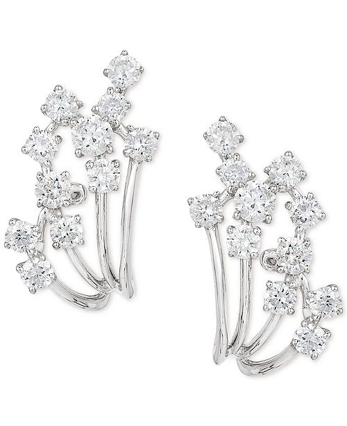 EFFY Collection Pavé Classica by EFFY® Diamond Earrings (7/8 ct. t.w.) in 14k White Gold