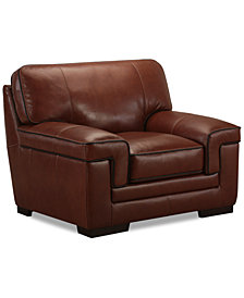 "Myars 47"" Leather Chair"