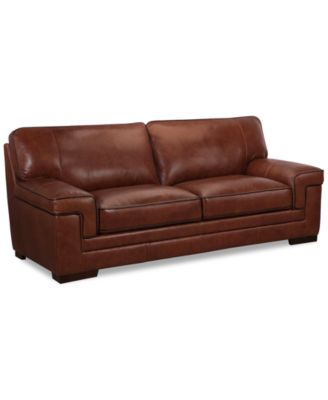 Leather sofa bed Red Myars 91 Macys Furniture Myars 91