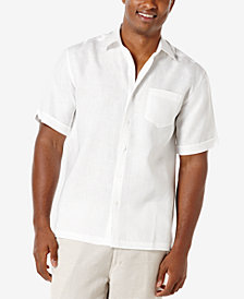 Cubavera Men's 100% Linen Short-Sleeve Shirt