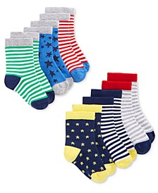 Baby Boys 6-Pack Stars & Stripes Crew Socks, Created for Macy's