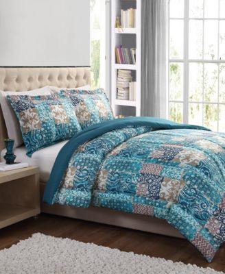 CLOSEOUT! Painted Patchwork 2-Pc. Twin Comforter Set