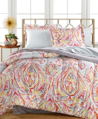 CLOSEOUT! Harmony 6-Pc Twin XL Bedding Ensemble, Reversible