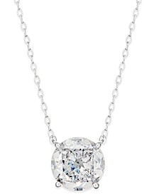 Silver-Tone Crystal Pendant Necklace, Created for Macy's