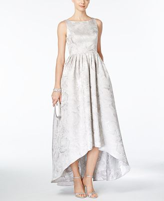 Adrianna Papell Floral Jacquard High Low Gown Dresses