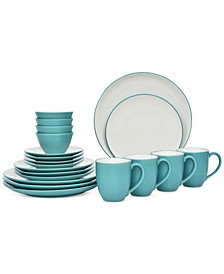 Colorwave 20-Pc. Coupe Dinnerware Set, Service for 4