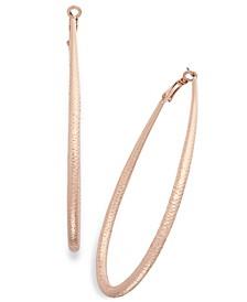 "Extra Large 3"" Diamond-Cut Teardrop Hoop Earrings, Created for Macy's"