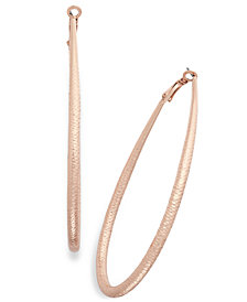 "Thalia Sodi Extra Large 3"" Diamond-Cut Teardrop Hoop Earrings, Created for Macy's"