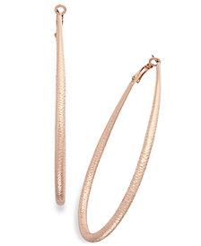 Thalia Sodi Diamond-Cut Teardrop Hoop Earrings, Created for Macy's