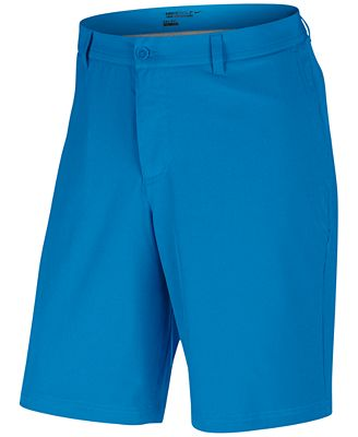 Nike Men's Flat-Front Stretch-Fabric Golf Shorts - Shorts - Men ...