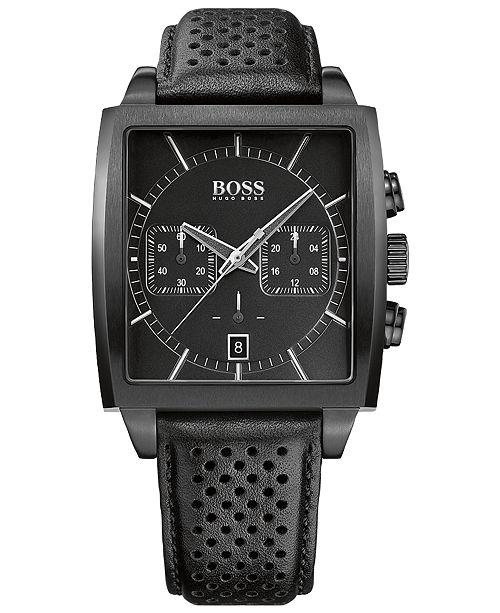 e1e110c4bd2b ... BOSS Hugo Boss Men's Chronograph HB-1005 Black Leather Strap Watch  39x40mm 1513357 ...