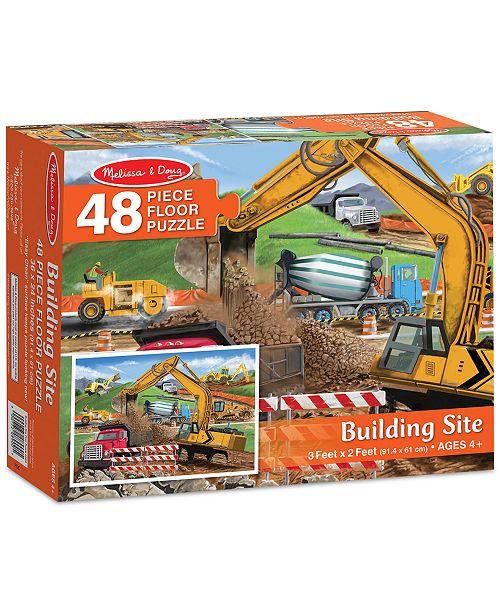Melissa and Doug Kids' Building Site 48-Piece Floor Puzzle