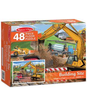 Melissa and Doug Kids' Building Site 48-Piece Floor Puzzle 2487881