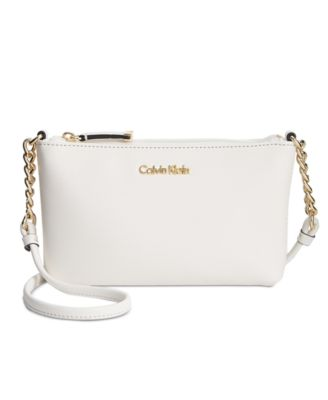 Image of Calvin Klein Hayden Mini Saffiano Leather Crossbody