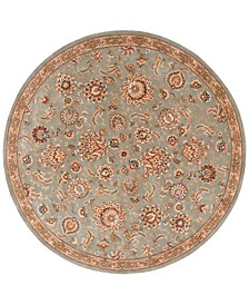 Wool and Silk 2000 2360 8' Round Rug