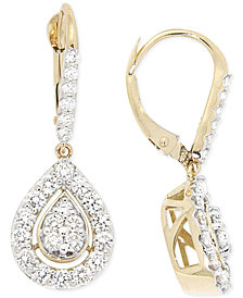 Diamond Teardrop Earrings (1 ct. t.w.) in 14k Gold