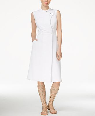 Rachel Roy Sleeveless Utility Wrap Dress