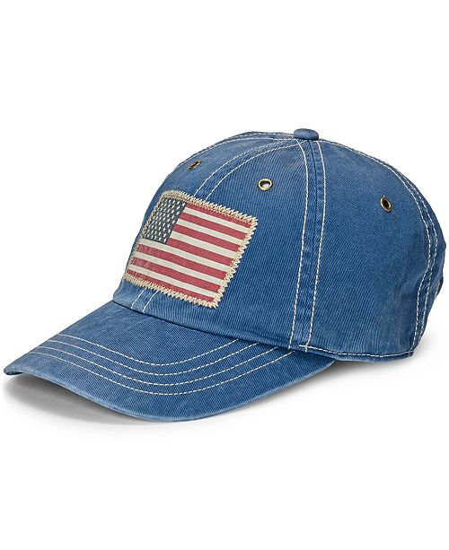 Polo Ralph Lauren Men s Chino Flag Graphic Cap - Hats 7f1f7b151fc