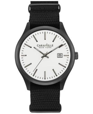 Caravelle New York by Bulova Men's Sport Black Nylon Strap Watch 41mm 45B142