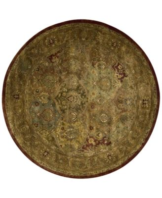 Round Area Rug, Rajah JA25 Dark Panel Multi 6'