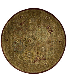 Nourison Round Area Rug, Rajah JA25 Dark Panel Multi 6'