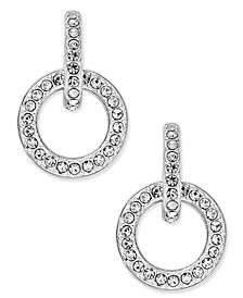 Silver-Tone Pavé Open Link Drop Earrings, Created for Macy's