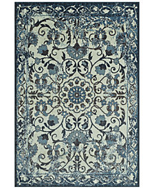 "CLOSEOUT! D Style Menagerie MEN29 Ivory 3'3"" x 5'1"" Area Rug"