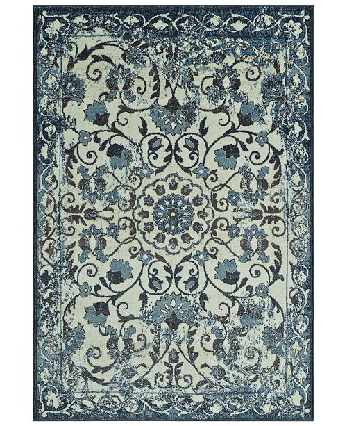 "D Style CLOSEOUT! Menagerie MEN29 Ivory 3'3"" x 5'1"" Area Rug"