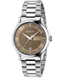 Unisex Swiss G-Timeless Stainless Steel Bracelet Watch 38mm YA126445