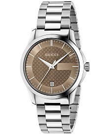 Gucci Unisex Swiss G-Timeless Stainless Steel Bracelet Watch 38mm YA126445