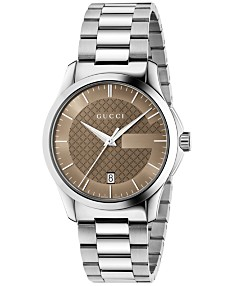 270e8af839021 Gucci Unisex Swiss G-Timeless Stainless Steel Bracelet Watch 38mm YA126445