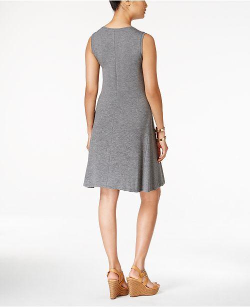be6f2f3777477 Style   Co Petite Sleeveless Swing Dress