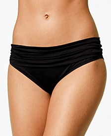 Shirred Banded Hipster Bikini Bottoms
