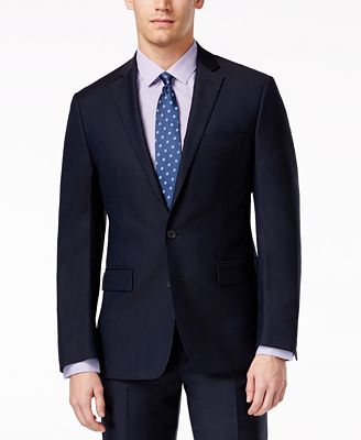 Ryan Seacrest Distinction Navy Solid Modern Fit Jacket - Men - Macy's