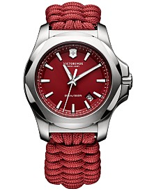 Victorinox Swiss Army Men's Swiss I.N.O.X. Red Paracord Strap Watch 43mm 241744.1