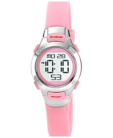 Women's Digital Pink Strap Watch 27mm 45-7012PNK