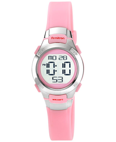 Armitron Women's Digital Pink Strap Watch 27mm 45-7012PNK