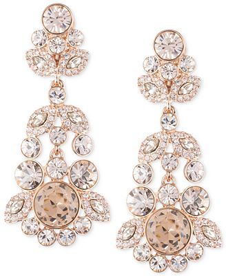 Givenchy Ornate Crystal Chandelier Earrings