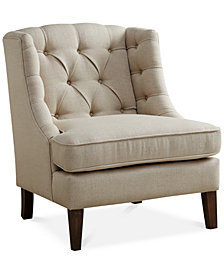 Sawyer Button Tufted Accent Chair, Quick Ship