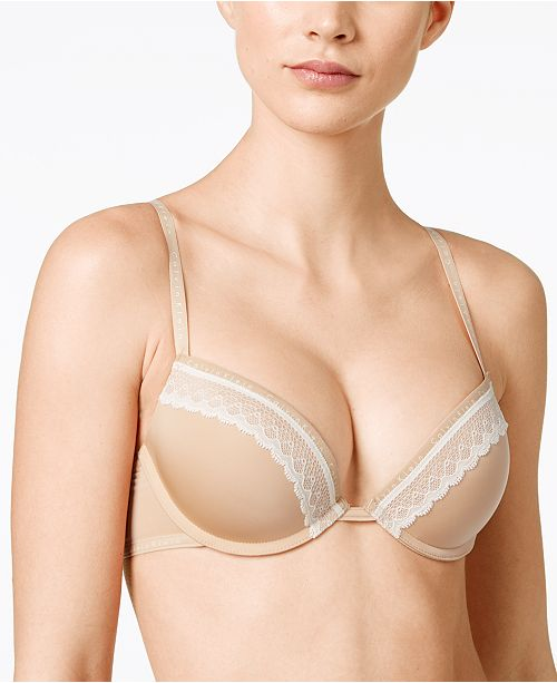 68dbc5f872d19 Calvin Klein Signature Plunge Push-Up Bra QF1416   Reviews - All ...