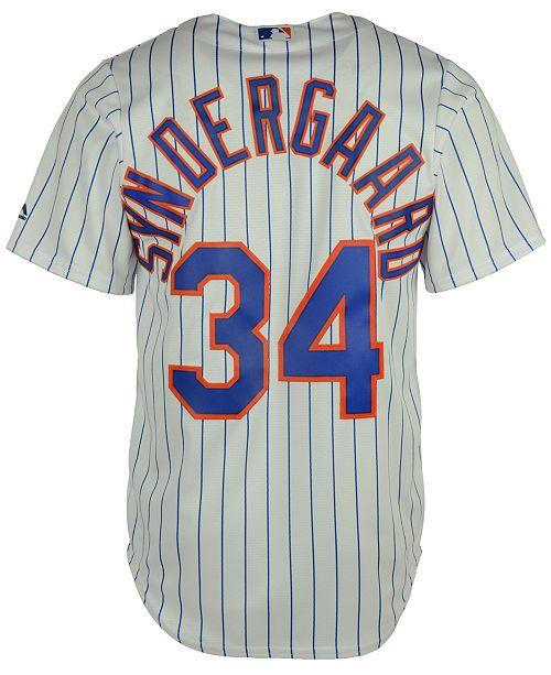 new product da78a 603c8 Men's Noah Syndergaard New York Mets Replica Jersey