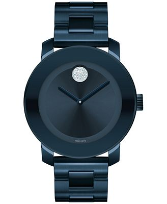 Movado Women's Swiss Bold Ink Blue Ion-Plated Stainless ...