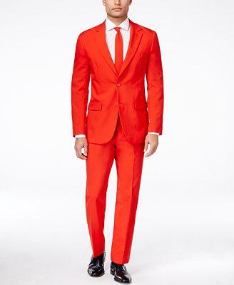 OppoSuits Red Devil Slim-Fit Suit & Tie - Suits & Suit Separates ...
